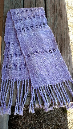 Purple Handwoven Scarf