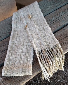 Handwoven White Scarf
